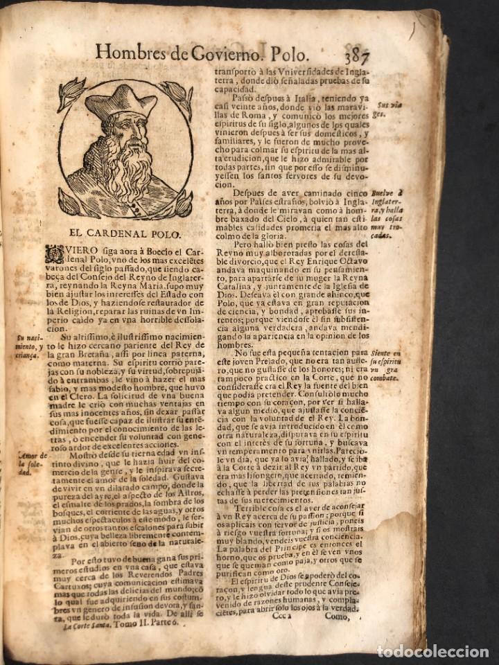 Libros antiguos: Año 1698 - La Corte santa - Tratado de los Monarcas y Cavalleros - Pergamino - De las Reynas, y Seño - Foto 78 - 259855635