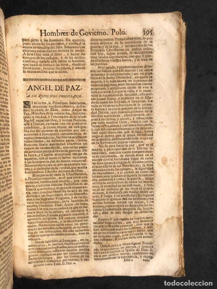 Libros antiguos: Año 1698 - La Corte santa - Tratado de los Monarcas y Cavalleros - Pergamino - De las Reynas, y Seño - Foto 79 - 259855635