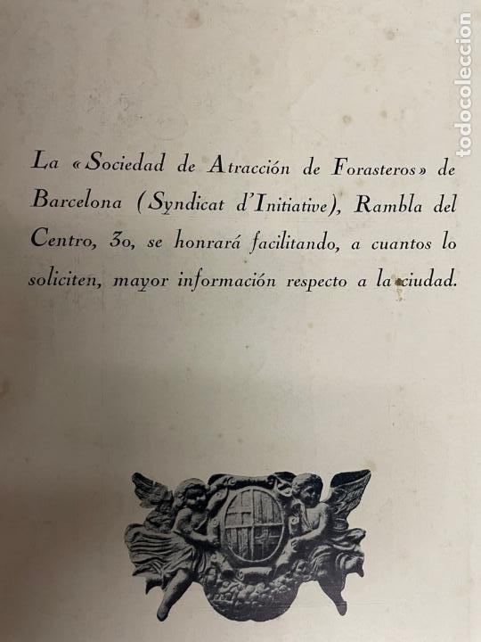 Libros antiguos: INTERESANTE LIBRO DE BARCELONA - AÑO 1928 - ANUARIO DE LA CIUDAD (SYNDICAT DINITIATIVE) - Foto 3 - 262113395