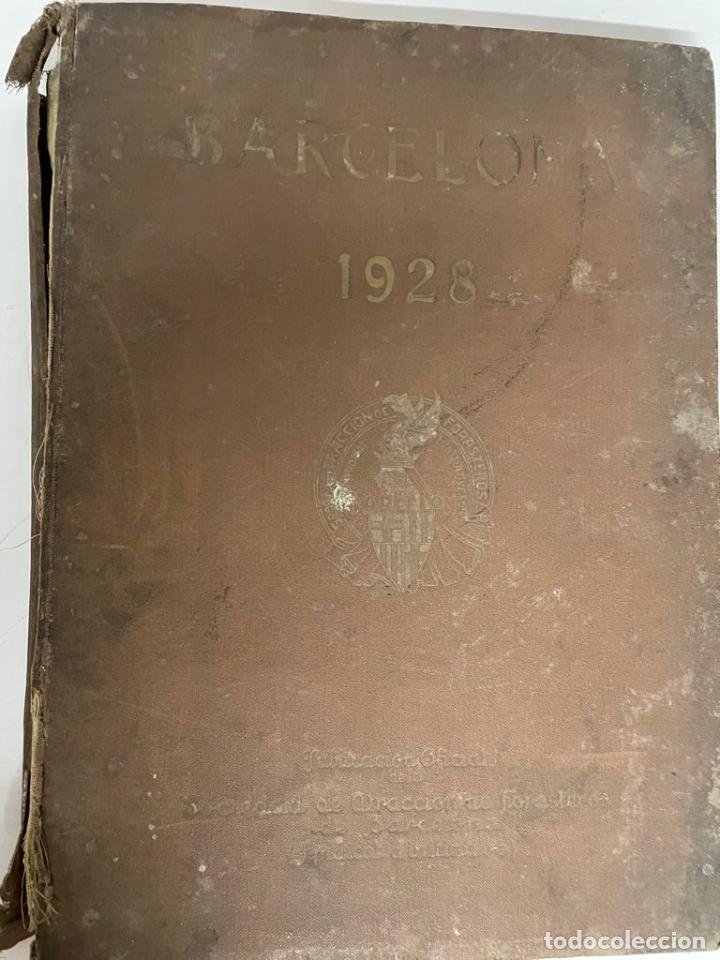 INTERESANTE LIBRO DE BARCELONA - AÑO 1928 - ANUARIO DE LA CIUDAD (SYNDICAT D'INITIATIVE) (Libros antiguos (hasta 1936), raros y curiosos - Historia Antigua)