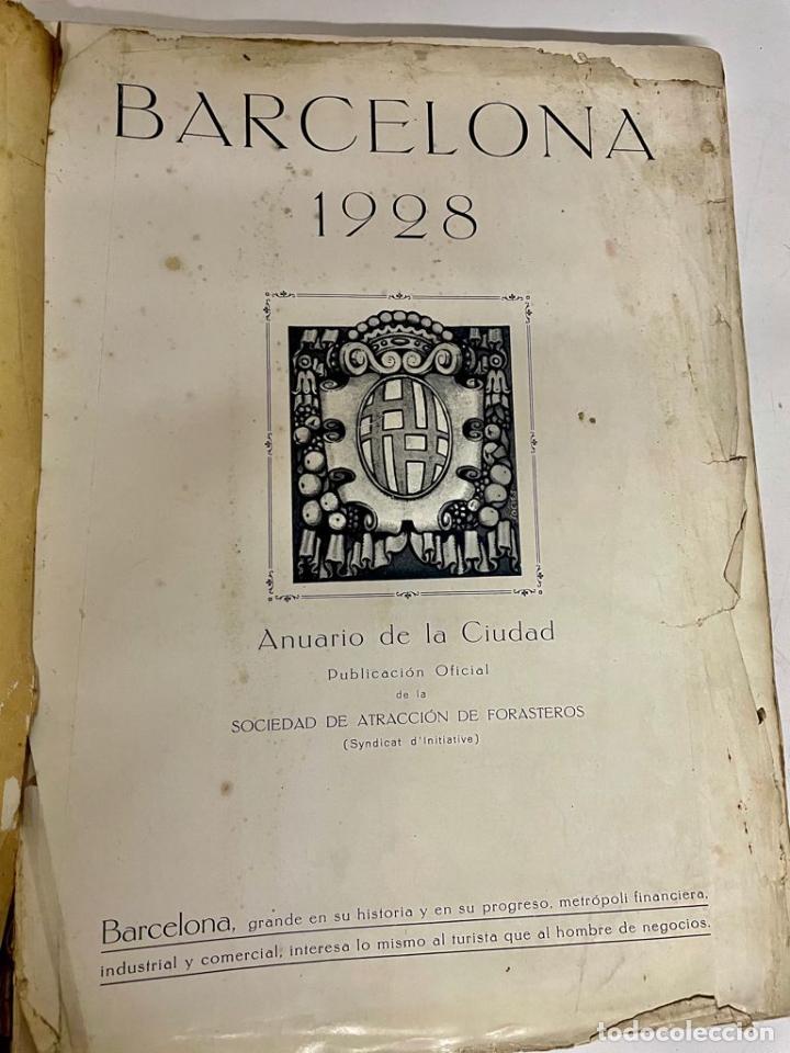 Libros antiguos: INTERESANTE LIBRO DE BARCELONA - AÑO 1928 - ANUARIO DE LA CIUDAD (SYNDICAT DINITIATIVE) - Foto 4 - 262113395