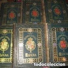 Libros antiguos: HISTORIA GENERAL DE ESPAÑA LA FUENTE 6 V. COMPLETA EDICION LUJO 1877. Lote 262566610