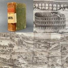 Libros antiguos: 1746 - HISTORIA ROMANA - GRABADOS DESPLEGABLES - TEATRO DE MARCELO - ACUEDUCTO -. Lote 262684060