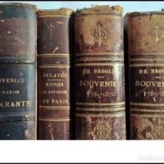 Libros antiguos: ELEGANTE LOTE DE LIBROS ANTIGUOS SOBRE HISTORIA. TODOS DEL SIGLO XIX.. Lote 263130340