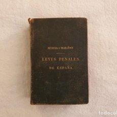 Libros antiguos: LIBROS LEYES PENALES DE ESPAÑA MODERNA MEDINA Y MARAÑON ED. JAUME RATÉS 1923. Lote 263162210