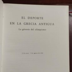 Libros antiguos: EL DEPORTE EN LA GRECIA ANTIGUA LA GÉNESIS DEL OLIMPISMO 1992 424 PÁGINAS 287 ILUSTRACIONES 31X25. Lote 264162232