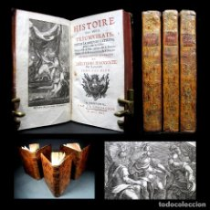 Libros antiguos: AÑO 1741 HISTORIA DE LOS TRIUNVIRATOS DE LA ANTIGUA ROMA COMPLETO 3 VOLS GRABADOS CLEOPATRA CÉSAR. Lote 264279396