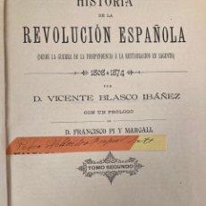 Libri antichi: LIBRO 1891 HISTORIA DE LA REVOLUCION ESPAÑOLA. Lote 266156878
