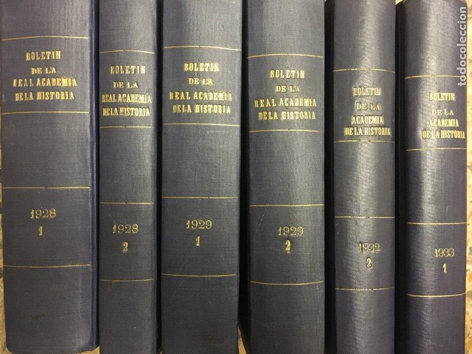 BOLETÍN DE LA REAL ACADEMIA DE LA HISTORIA 1929/1933 (Libros antiguos (hasta 1936), raros y curiosos - Historia Antigua)