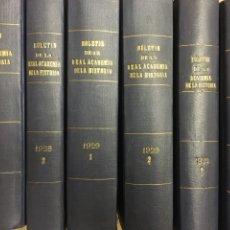 Libros antiguos: BOLETÍN DE LA REAL ACADEMIA DE LA HISTORIA 1929/1933. Lote 266934989