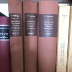 Libros antiguos: SAMMELBUCH GRIECHISCHER URKUNDEN AUS ÄGYPTEN PREISIGKE. Lote 267337354