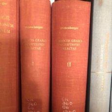 Libros antiguos: ORIENTIS GRAECI INSCRIPTIONES SELECTAE DITTENBERGER. Lote 267337534