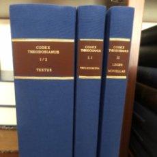 Libros antiguos: CÓDEX THEODOSIANUS. Lote 267338609