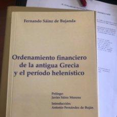 Libros antiguos: ORDENAMIENTO FINANCIERO ANTIGUA GRECIA. Lote 267342609