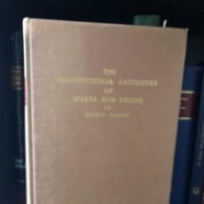 Libros antiguos: THE CONSTITUTIONAL ANTIQUITIES OF SPARTA AND ATHENS GILBERT. Lote 268809849