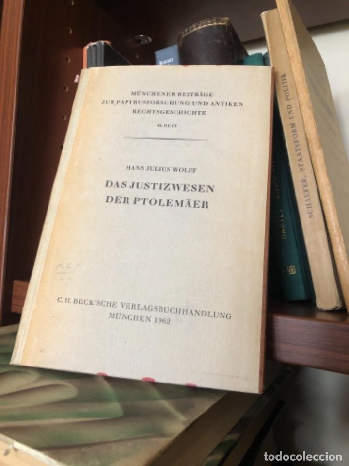 DAS JUSTIZWESEN DER PTOLEMÄER WOLFF (Libros antiguos (hasta 1936), raros y curiosos - Historia Antigua)