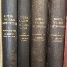 Libros antiguos: PAPYRUSKUNDE MITTEIS WILCKEN. Lote 268814344