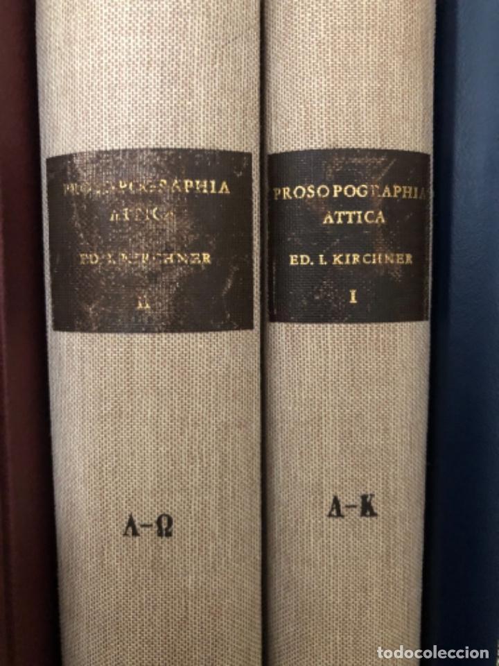 PROSOPOGRAPHIA ATTICA (Libros antiguos (hasta 1936), raros y curiosos - Historia Antigua)