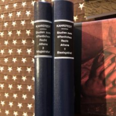 Livros antigos: KAHRSTEDT : 1. STAATSGEBIET 2.MAGISTRATUR. Lote 268816424