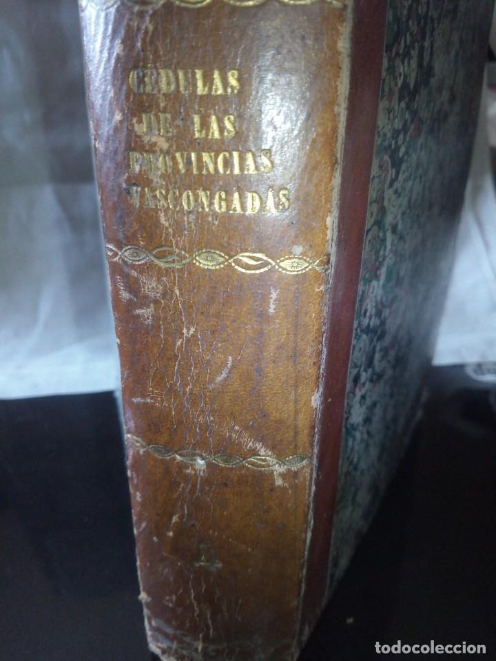Libros antiguos: ~~~~ CÉDULAS CONCERNIENTES A LAS VASCONGADAS 1830, TOMO IV HERMANDADES DE ALAVA ~~~~ - Foto 2 - 268966979