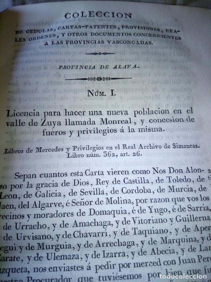 Libros antiguos: ~~~~ CÉDULAS CONCERNIENTES A LAS VASCONGADAS 1830, TOMO IV HERMANDADES DE ALAVA ~~~~ - Foto 6 - 268966979