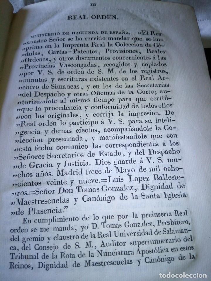 Libros antiguos: ~~~~ CÉDULAS CONCERNIENTES A LAS VASCONGADAS 1830, TOMO IV HERMANDADES DE ALAVA ~~~~ - Foto 7 - 268966979