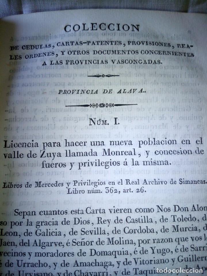 Libros antiguos: ~~~~ CÉDULAS CONCERNIENTES A LAS VASCONGADAS 1830, TOMO IV HERMANDADES DE ALAVA ~~~~ - Foto 10 - 268966979