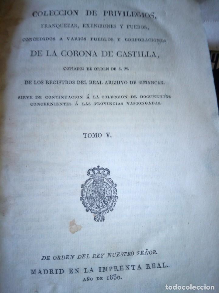 Libros antiguos: ~~~~ PRIVILEGIOS CONCEDIDOS A LA CORONA DE CASTILLA 1830, REGISTROS REAL ARCHIVO DE SIMANCAS ~~~~ - Foto 3 - 268971924