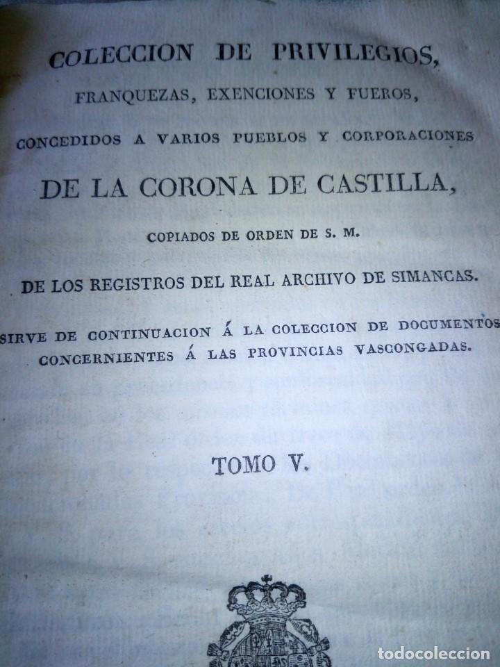 Libros antiguos: ~~~~ PRIVILEGIOS CONCEDIDOS A LA CORONA DE CASTILLA 1830, REGISTROS REAL ARCHIVO DE SIMANCAS ~~~~ - Foto 5 - 268971924