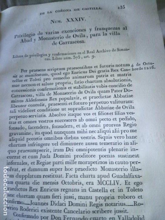 Libros antiguos: ~~~~ PRIVILEGIOS CONCEDIDOS A LA CORONA DE CASTILLA 1830, REGISTROS REAL ARCHIVO DE SIMANCAS ~~~~ - Foto 7 - 268971924