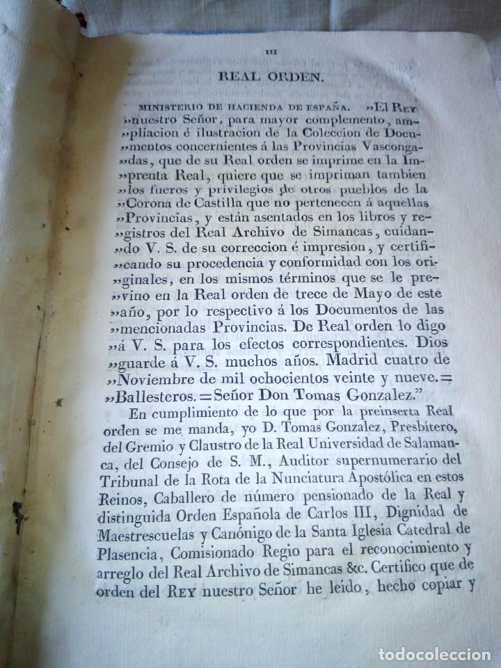 Libros antiguos: ~~~~ PRIVILEGIOS CONCEDIDOS A LA CORONA DE CASTILLA 1830, REGISTROS REAL ARCHIVO DE SIMANCAS ~~~~ - Foto 8 - 268971924