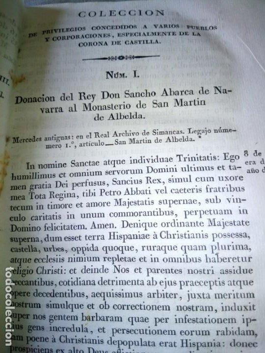Libros antiguos: ~~~~ PRIVILEGIOS CONCEDIDOS A LA CORONA DE CASTILLA 1830, REGISTROS REAL ARCHIVO DE SIMANCAS ~~~~ - Foto 9 - 268971924