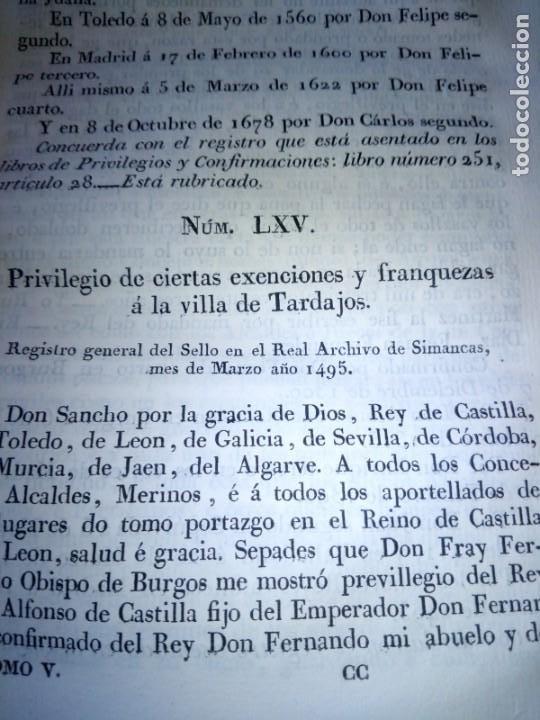 Libros antiguos: ~~~~ PRIVILEGIOS CONCEDIDOS A LA CORONA DE CASTILLA 1830, REGISTROS REAL ARCHIVO DE SIMANCAS ~~~~ - Foto 10 - 268971924
