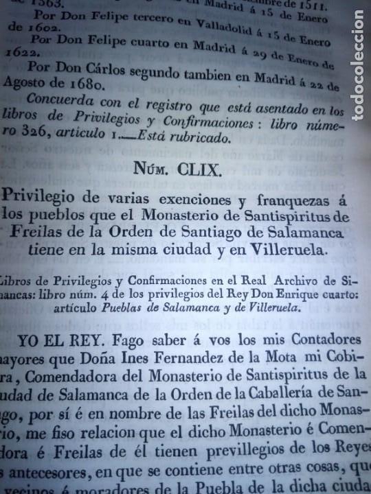 Libros antiguos: ~~~~ PRIVILEGIOS CONCEDIDOS A LA CORONA DE CASTILLA 1830, REGISTROS REAL ARCHIVO DE SIMANCAS ~~~~ - Foto 11 - 268971924