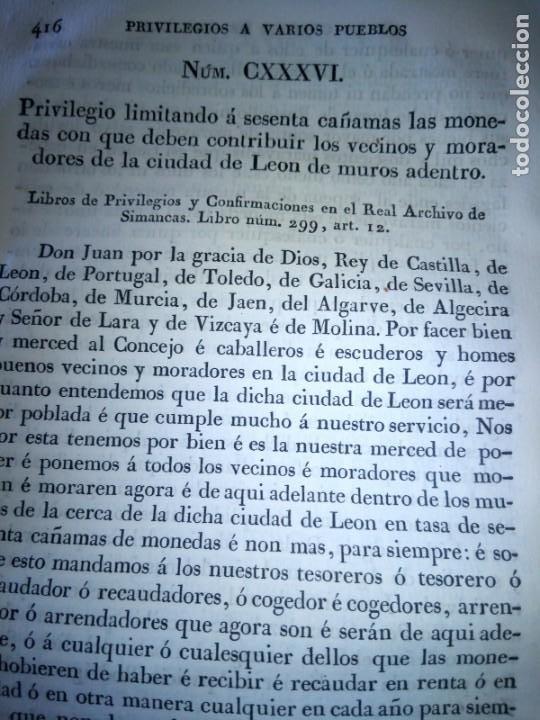 Libros antiguos: ~~~~ PRIVILEGIOS CONCEDIDOS A LA CORONA DE CASTILLA 1830, REGISTROS REAL ARCHIVO DE SIMANCAS ~~~~ - Foto 12 - 268971924