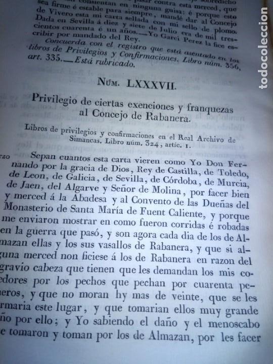 Libros antiguos: ~~~~ PRIVILEGIOS CONCEDIDOS A LA CORONA DE CASTILLA 1830, REGISTROS REAL ARCHIVO DE SIMANCAS ~~~~ - Foto 13 - 268971924