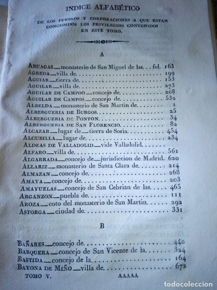 Libros antiguos: ~~~~ PRIVILEGIOS CONCEDIDOS A LA CORONA DE CASTILLA 1830, REGISTROS REAL ARCHIVO DE SIMANCAS ~~~~ - Foto 14 - 268971924