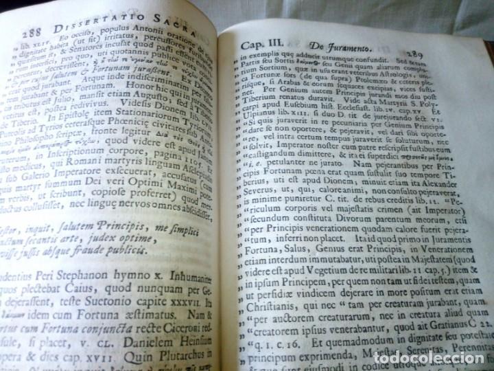 Libros antiguos: ~~~~ JACOBI LYDII, DERE MILITARI SYNTAGMA SACRUM, DE JURE JURANDO 1698 CON GRABADOS Y DESPLEGA ~~~~ - Foto 21 - 268995044