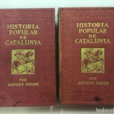 Libros antiguos: HISTORIA POPULAR DE CATALUNYA. - ROURE, ALFONS.. Lote 123240740