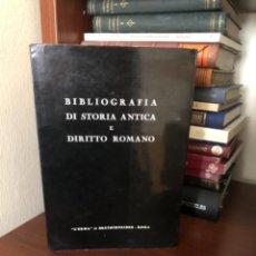 Libros antiguos: BIBLIOGRAFIA DI STORIA ANTICA E DIRITTO ROMANO. Lote 270103588