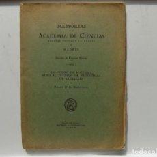 Libros antiguos: LIBRERIA GHOTICA. MEMORIAS DE LA ACADEMIA DE CIENCIAS. TRAZADO DE PROYECTILES DE ARTILLERIA. 1900. Lote 270173083