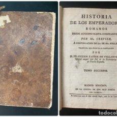 Libros antiguos: HISTORIA DE LOS EMPERADORES ROMANOS. MR. CREVIER. TOMO II. MADRID, 1795. PAGS: 448. Lote 274757708