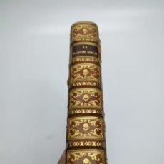 Libros antiguos: 258 GRABADOS AÑO 1703 LA SACRA SAINTE BIBLIE POR HUMBLOT PARIS. Lote 275135438
