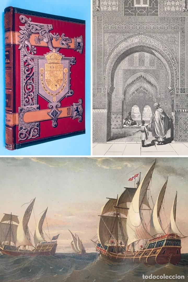 AÑO 1888 - RECONQUISTA - TOMA DE GRANADA - EXPULSIÓN DE LOS JUDÍOS - VIAJES DE COLÓN - AMÉRICA. (Libros antiguos (hasta 1936), raros y curiosos - Historia Antigua)