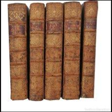 Libros antiguos: AÑO 1786. MEMORIAS RELATIVAS A LA HISTORIA DE FRANCIA. 5 TOMOS DEL SIGLO XVIII.. Lote 275300253