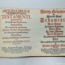 Libros antiguos: --100 GRABADOS HISTORIA BIBLICA VETERIS ET NOVIS TESTAMENTI POR JOANNES KLAUBER SOBRE AÑO 1750. Lote 275062948