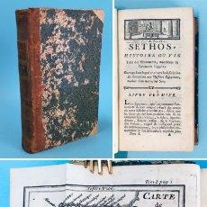 Livros antigos: AÑO 1767 - VIDA DE SETH, DIOS EGIPCIO DEL DESIERTO - MISTERIOS EGIPCIOS - ANTIGUO EGIPTO - MITOLOGÍA. Lote 275721658