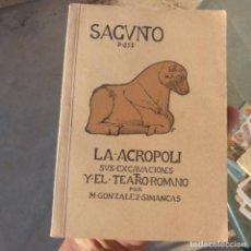 Libros antiguos: ANTIGUO LIBRITO , SAGUNTO , M . GONZALEZ SIMANCAS , 1ERA EDICION , 4 PESETAS. Lote 275782238