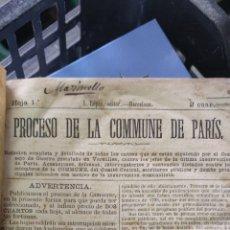 Livros antigos: PROCESO DE LA COMMUNE DE PARIS 1871. Lote 276017683