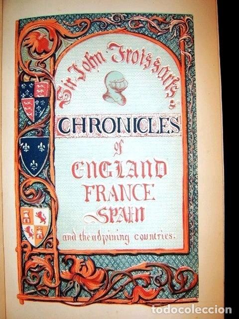 Libros antiguos: CHRONICLES OF ENGLAND, FRANCE, SPAIN,... 2 vol., 1868. FROISSART/JHONES/ROUTLEDGE. 75 LITOGRAFIAS - Foto 17 - 276806868